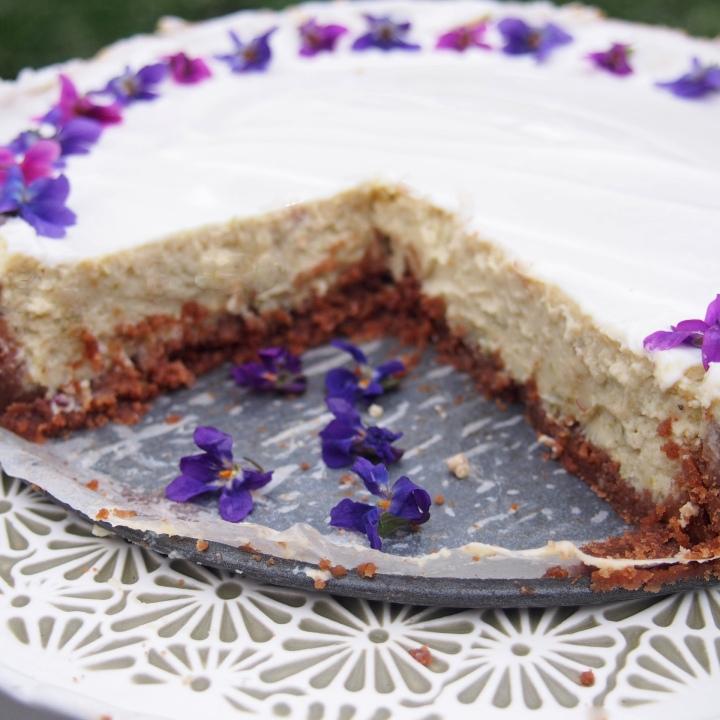 Cheesecake s fialkami