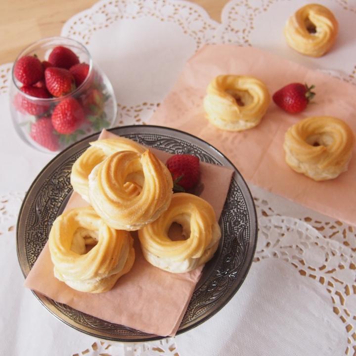 Věnečky s vanilkovým krémem